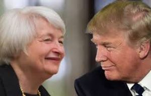 "Trump anticipated he would not nominate Yellen for a second term, but in an  interview on Wednesday he said he ""respects"" the Fed chair."