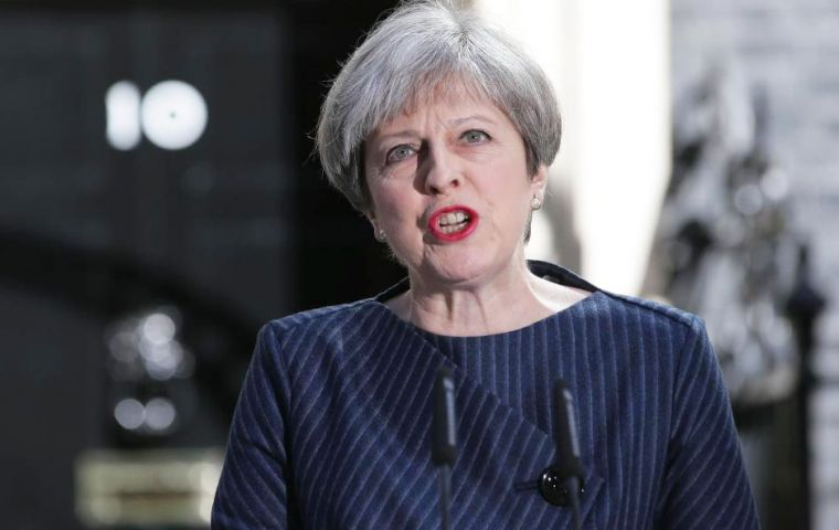 "Mrs. May said: ""I have concluded the only way to guarantee certainty and security for years ahead is to hold this election."""