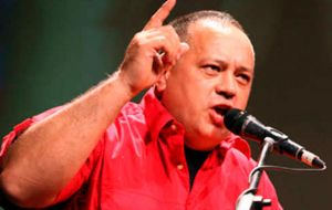 """We are going to mobilize, to fight, to continue fighting to prevent any intention of the right to subvert the constitutional order,"" added Diosdado Cabello"