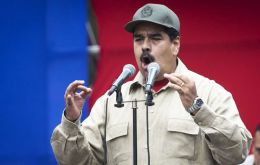 """Today the people stood by Maduro!"" the president said, blasting his rivals as ""anti-Christs."" ""We've triumphed again! Here we are, governing, governing"""