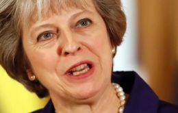 "The prime minister urged voters to give her ""the mandate to speak for Britain and to deliver for Britain""."