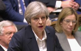 "Mrs May told MPs: ""There are three things a country needs, a strong economy, strong defence and strong, stable leadership"""
