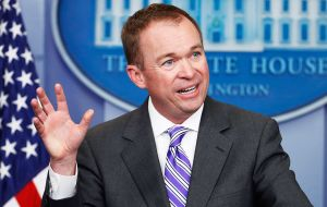 Budget director Mick Mulvaney said the administration plans to include US$200 billion for new infrastructure spending in its fiscal year 2018 budget.