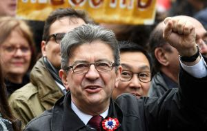 If Melenchon makes it to the runoff, he is projected to beat both Le Pen and Fillon by comfortable margins although he is seen losing to Macron 41% to 59%.