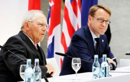 German Finance Minister Wolfgang Schäuble and Bundesbank President Jens Weidmann said there was wide agreement about the importance of free trade.