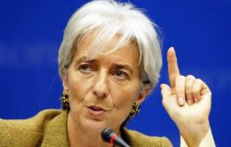 "Lagarde stressed that aging populations, political instability and ""the sword of protectionism"" all threaten ""self-inflicted wounds"" on economies across the globe."
