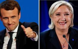 With 96% of votes counted, Macron has 23.9% with Le Pen on 21.4%. Opinion polls have consistently predicted Macron defeating his rival in the runoff.