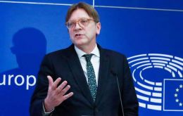 "Verhofstadt Brussels believed chances of a deal were being eroded by PM May's ""tough negotiating red lines"" and lack of ""political room for manoeuvre"""
