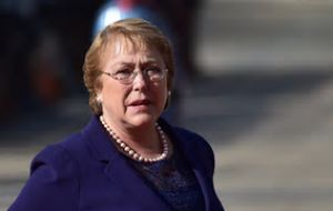 """So far there has been no human loss nor significant damage,"" Bachelet said, praising people for evacuating in an orderly fashion in the immediate aftermath."