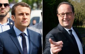 "President Hollande said the far right threatens Europe's break-up, ""profoundly divide France"" and ""faced with such a risk, I will vote for Emmanuel Macron""."