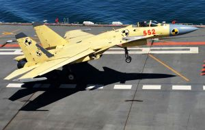 China's defense ministry had anticipated the carrier would displace 50,000 tons, use conventional propulsion and carry China's indigenous J-15 aircraft