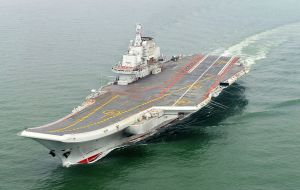 The country first aircraft carrier, the Liaoning, is a secondhand Soviet ship built more than 25 years ago and commissioned in 2012 after extensive refits.