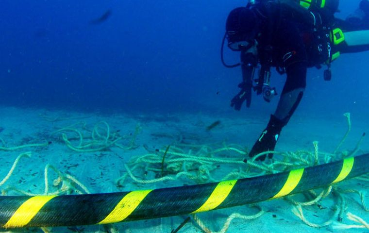 The EllaLink subsea cable will connect to data centers in Madrid and São Paulo, as well as in Lisbon, using shielded fiber rings, officials said