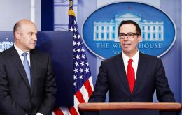 Secretary Steven Mnuchin, and White House chief economic adviser Gary Cohn rolled out the plan at the White House