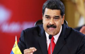 """Enough of interventionist abuses and violation of legality"" twitted Maduro. ""Venezuela is the cradle of the Liberators and we will respect it."""