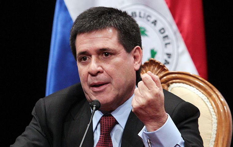 President Cartes said he would not seek another term even if the amendment was approved. He even wrote a letter to Pope Francis promising he had such intentions
