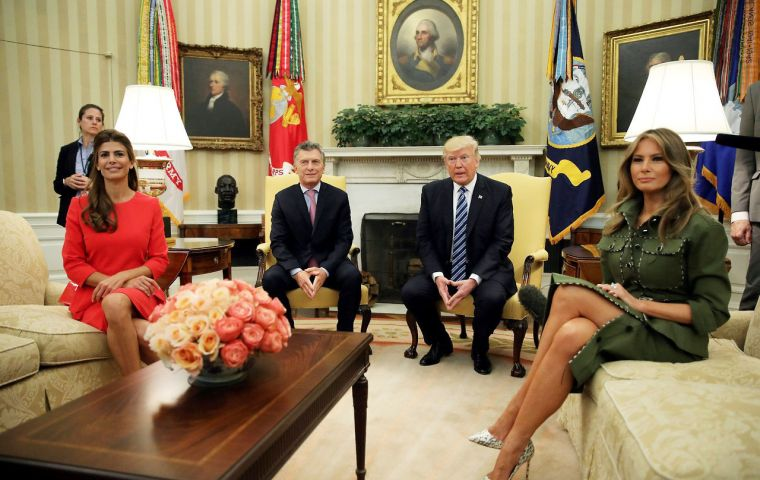 Presidents Trump and Macri underscored their continuing commitment to expanding trade and investment between the United States and Argentina
