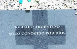 Falklands' Darwin Cemetery holds the remains of 123 unknown Argentine soldiers and the Red Cross will be tasked in trying to identify them with DNA tests