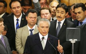 "President Michel Temer said he regretted the incidents in Rio. But he stressed that he would continue his ""efforts to modernize the country""."