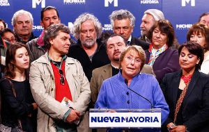 Nueva Mayoria, the coalition of ruling President Bachelet, is an ideologically diverse bloc that runs from radical left Communists to Christian Democrats