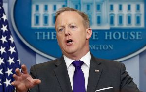 "Spokesman Sean Spicer said Washington wanted to see the North end its provocative behavior immediately: ""clearly conditions are not there right now"""