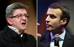 An internal survey of supporters of defeated far-left firebrand Jean-Luc Melenchon showed only 35% would back pro-EU centrist Emmanuel Macron