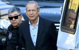 A former guerrilla now aged 71, Dirceu was convicted in May 2016 to 32 years in jail for taking bribes, money laundering and criminal association.