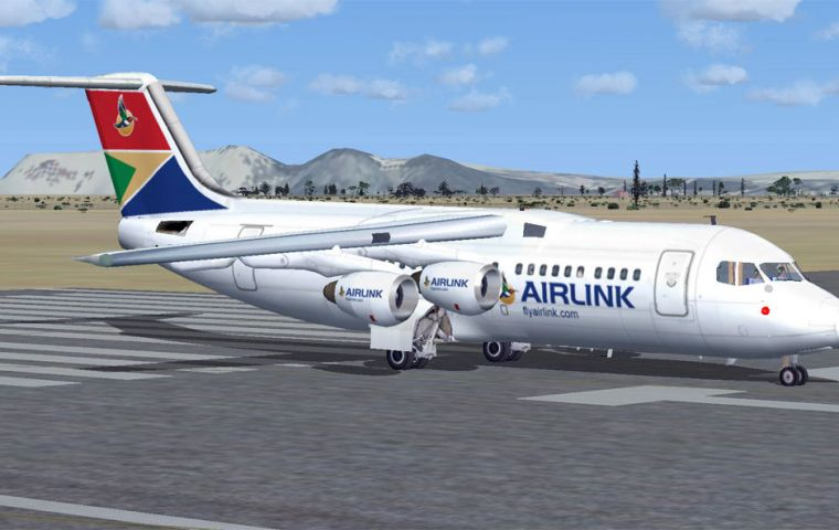 SA Airlink successfully carried out the flight operation on Wednesday using a British Aerospace 146 Avro RJ85 aircraft.