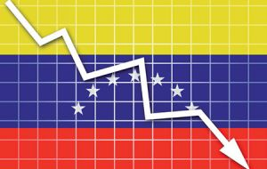 Venezuela's economic output shrank some 18% last year and annual inflation this year is projected to top 700%, according to the IMF.