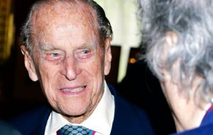 "A guest following the service told Prince Philip, ""I'm sorry to hear you're standing down.""  He was quick with a reply, ""Well I can't stand up much longer."""