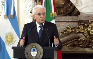 Mattarella underlined that besides the unique relation of Italy with Argentina, Italy this year is chairing the G7 and in 2018 Argentina will be doing the same with G20