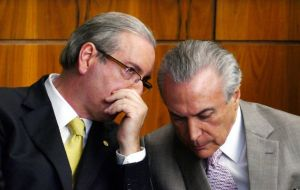 "Temer's office issued a statement saying: ""President Michel Temer never solicited payments to obtain the silence of former deputy Eduardo Cunha."""