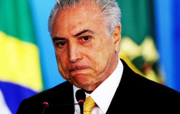 Meatpacking giant JBS, Joesley Batista, met with Temer on March 7, and secretly recorded telling Temer he was paying money to buy the silence of  Eduardo Cunha.