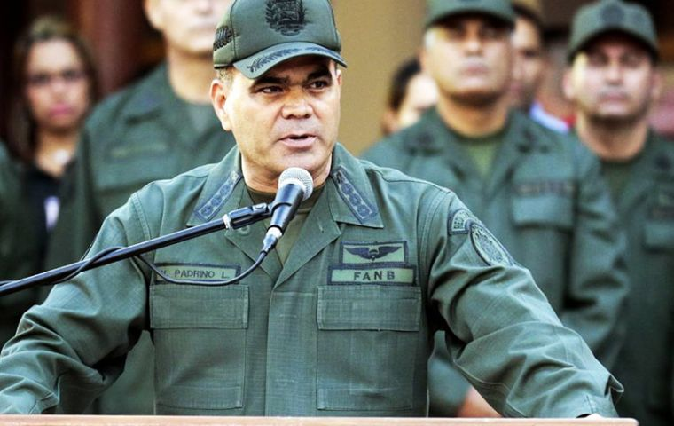 """I have ordered the transfer of 2,000 guards and 600 special operations troops"" to Tachira, Defense Minister Vladimir Padrino Lopez said on state television"