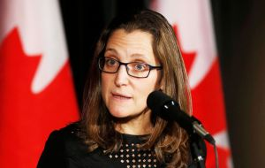 "Chrystia Freeland, Canada's foreign minister said that talks ""need to be conducted in a trilateral fashion,"" and that officials there are ""ready to roll up our sleeves."""