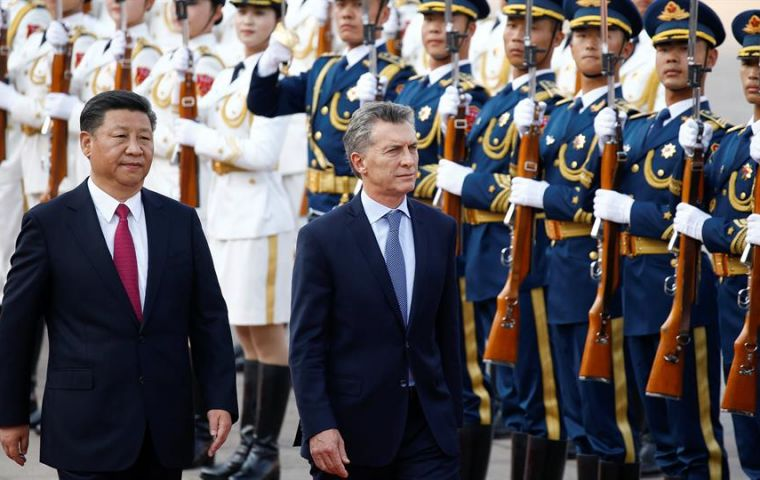 """In China we felt that we took a very positive step forward, this is the third time in less than 18 months that I meet with Xi Jinping"", said Macri"