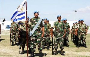 Uruguay is one of the main military contributors to peacekeeping operations and has troops displayed in Africa and Asia