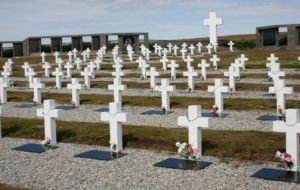 "The Darwin cemetery in the Falklands holds 237 graves of which 123 are marked, ""Argentine solider known only to God"""