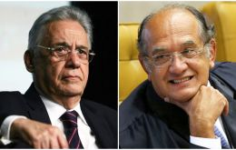 Fernando Henrique Cardoso is in charge of contacts with Gilmar Mendes (R), head of the Electoral Superior Tribunal
