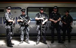 Among the first to be deployed were a group of four officers who boarded a Virgin Trains service at London Euston travelling to Birmingham New Street. (Pic PA)