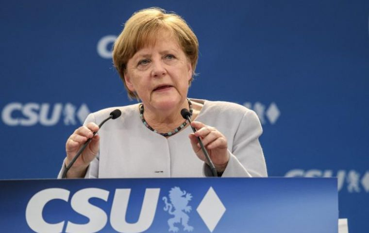 """The times in which we could completely depend on others are on the way out. I've experienced that in the last few days"" Merkel told a crowd at an election rally"