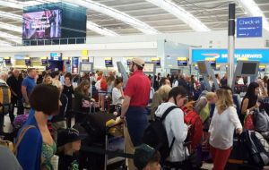 All flights operated from Gatwick on Sunday but more than a third of services from Heathrow - mostly to short-haul destinations - were cancelled.