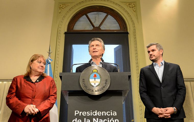 """Our foreign minister is leaving us - not the team, but the role of foreign minister,"" Macri told reporters at a press conference."
