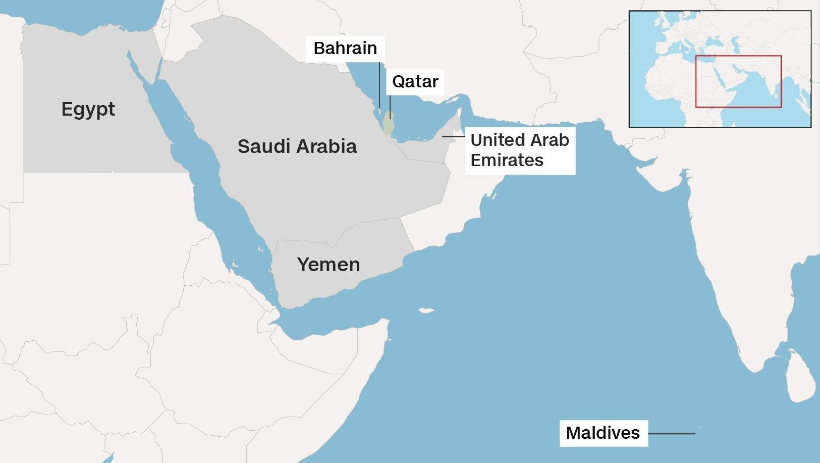 The Move Is Seen As A Major Split Between Powerful Gulf Countries Who Are Also Close Us Allies It Comes Amid Heightened Tensions Between Gulf Countries
