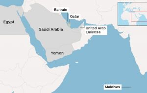 The move is seen as a major split between powerful Gulf countries, who are also close US allies. It comes amid heightened tensions between Gulf countries and Iran.