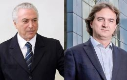 Brazilian media say the questions focus on a conversation between Temer and one of the owners of meatpacker JBS, executive Joesley Batista