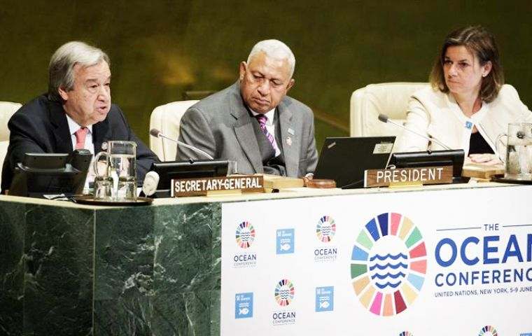 """Improving the health of our oceans is a test for multilateralism, and we cannot afford to fail,"" said Guterres during his first major UN conference"