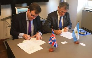 Minister Hands when he visited Buenos Aires last March to sign the Memorandum of Understanding