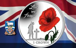 New coin from Pobjoy Mint honors the soldiers that gave their lives for the sovereignty of the Falkland Islands