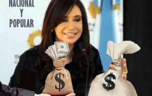 Cristina was born to a very poor home, the daughter of a bus driver, and obviously had to obtain money to make politics. So it is fine she managed to make the money